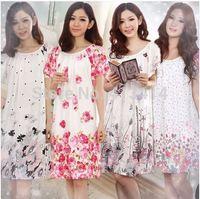 spring 2014 women robe pajama sets nightgown cotton pajamas bathrobe sleepwear women pijama women nightdress
