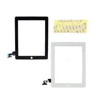 5pcs New Touch Panel Glass Digitizer Screen Repair Parts+Home Button +Tools +3M Sticks for Tablet PC iPad 2 2nd Gen Black /White