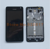 SG Post Black Original LCD Display +Digitizer touch Screen FOR Huawei U9508 honor 2+ Assembly with frame