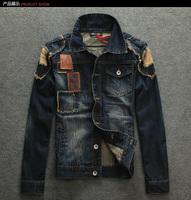 Free shipping 2014 men's clothing men's jean jacket men denim jackets for men