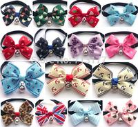 2014New 8 Designs 17 Colors,5pcs/lot Pet Accessories Pet BowTie Neckties ,Cat Adjustable Collar Bowtie,Puppy Bow Tie Neckties