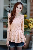 latest  lace  top long sleeve   shirt