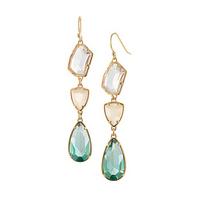 new 2014 Green crystal big earrings women  vintage ear accessories dangle earring brincos grandes statement earrings
