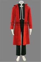 New Free Shipping Fullmetal Alchemist Edward Elric Cosplay Costume Uniform Anime peripheral