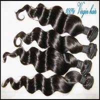 "New 6A Virgin 100% low price Bohemain human loose wave(deep wavy) hair extension 12""- 30"" Hair Weft  4pcs/400g DHL free ship"