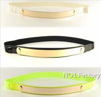 2014 New Fashion Metal Sequins Waist Belts Women's Decorative elastic thin belt  Ladies's Belts female
