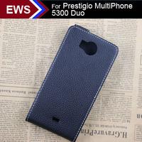 in Stock New items Free Shipping Custom Pu Case Special Exclusive Flip Cover + 1 piece Film For Prestigio MultiPhone 5300 Duo
