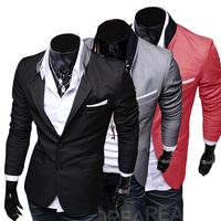 2014 new men's casual suit men's high quality fashion Slim Blazer M/4XL