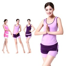 Mulan Ou Yoga Workout clothes aerobics spring and summer women dress modal word vest shorts sports suit