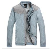 2014 Men'S Spring Models Linen Jacket Men'S Fashion Trendy Upscale Coat male Slim Brand Men'S Jackets Designer Outwear XG-71