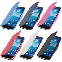 Slim Multi-Color Side Flip PU Leather Magntic Closure Case Cover for Samsung Galaxy S4 Mini i9190 i9195