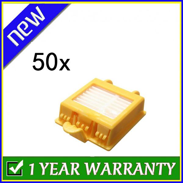 New 50 x Hepa Filter filters for iRobot Roomba 700 Series 760 770 780(China (Mainland))