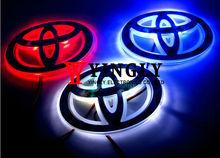 Three Color Car Badge Light For Toyota Corolla,12*8cm, Single Color Auto Logo Led Light, Auto Emblem Lamp, Rear Light(China (Mainland))