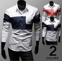Size M-XXXL Fashion Men's Turn-down Collar Cotton Slim Long Sleeve Single Breasted Casual Shirts Free Shipping LJM016