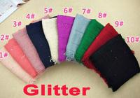 new glitter design ladies fashion printe paillette flash 100% viscose cotton shawls long wrap popular scarves/scarf 10pcs/lot