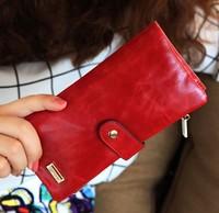 New 2014 Leather Slim Money Clip men women ultra-thin short design small wallet Buckle Female Purses