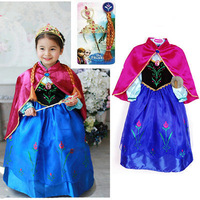 Retail+summer dress 2014 New Frozen Anna party dress,children girls fashion evening dress,Baby & kids one pieces,hot sale