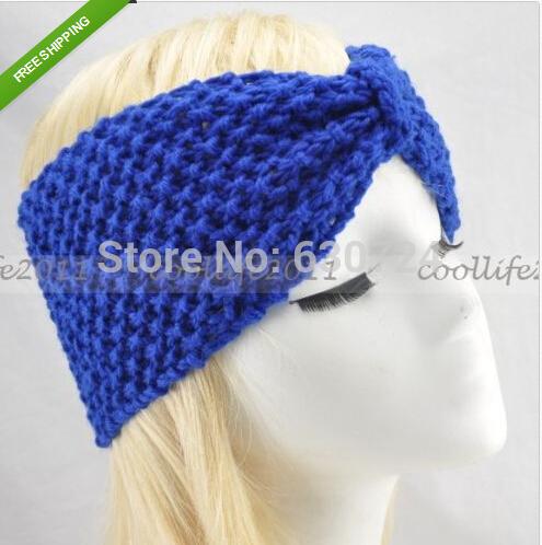 Winter Women Knit Hairband Crochet Warmer Head Wrap Headband Warmer(China (Mainland))