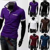 2014 Mens Unique neckline stylish Dress long Sleeve Shirts Mens dress shirts 17colors