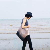 Yizi gradient messenger bag brief canvas shoulder bag handbag messenger