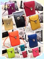 2014 fashion knitted mobile phone bag coin purse mini bag women's handbag messenger bag