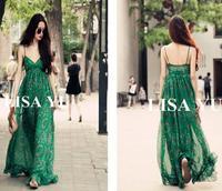 New 2014  vintage bohemia summer  dress fashion chiffon print ultra long oversized one-piece dress sand beach crops top C72