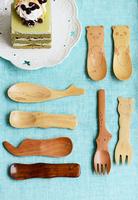 Eco-friendly wooden animal tableware spoon butter spoon jam spoon child cartoon eco-friendly wooden spoon