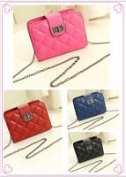 2014 fashion vintage plaid mini bag chain bag messenger bag handbag women's trend