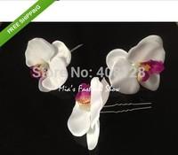 Fashion 7pcs Orchid Flower Hair Clip Bridal Wedding Hawaii Party Girl Hairpins