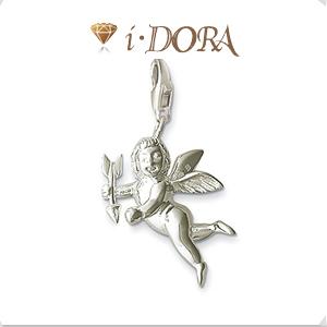 2014 Hot sell diy ts fashion charms bracelet alloys silver plated enamel jewelry pendant Cupid TS8243
