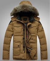 free shipping men's down jacket , 2014 new winter dress man down parkas duck down men's jacket 200
