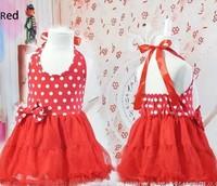 2014 girl puffy dress/dot dress girl tutu one piece dress size 90 100 110 120  free shipping ,buy one get one free Cheong-sam