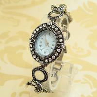 Vintage Wholesale women rhinestone wristwatches ladies fashion Peacock Design quartz watch  Women  watches FS207