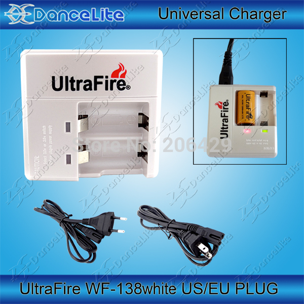 UltraFire WF-138 3.0V/3.6V/3.7V Switching Charger for CR123A 16340 Battery with EU/US Plug Mail Free(China (Mainland))