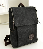 New men's fashion trend in canvas backpack British style leisure backpack laptop bag KZ116