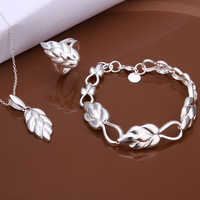S493 2014 New, 925 Silver jewelry sets For women, Wholesale Fashion Jewelry sets, Hot sale Necklaces + Rings + Earrings