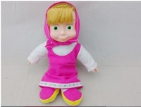 Free Shipping Voice Control Russian Language Singing Masha Musical Dolls for Girls Learning and Education Baby toys for kids