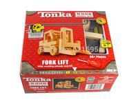 High Quality TONKA Assembled Wood Shovel Car DIY Model Kit Wooden Cars Toys Children's Birthday Gift Free shipping