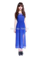 Hot Sell Lady's Chiffon Sundress Lady Irregular High-waist One-piece Long Dress