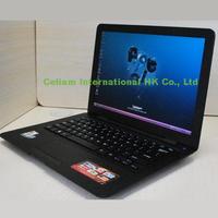 laptop 13''  Intel D2500 cpu Dual-core window 7 camera 1.3MP 1G 160G HDMI LAN USB2.0 Wifi 1366*768 computer black white