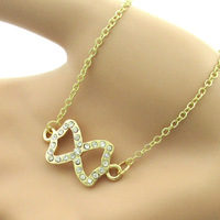 Free Shipping For 2  Pcs 2014 Pendant Wholesale fashion jewelry infinity charm necklace Top Quality vintage Colorful summer