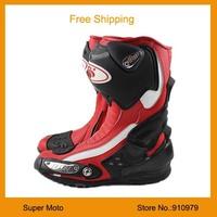 Motorcycle Boots Pro-biker SPEED Bikers Moto Racing Boots Motocross Motorbike Shoes Black White Red 40 41 42 43 44 45 B1002