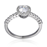 Free shipping Hot Sell Trendy Shiny Zircon & Platinum Plated Women Finger Rings Jewelry  Wholesale