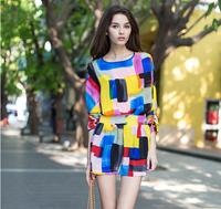 Europe silk dress
