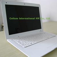 laptop 13''  Intel D2500 cpu Dual-core window 7 camera 1.3MP 2G 160G HDMI LAN USB2.0 Wifi 1366*768 computer black white