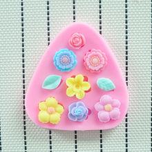 2O14 alta qualidade do molde de silicone HOT Flowers , Ferramentas Fondant decoração do bolo, bolo silicone Mold, acessórios de cozinha stencil(China (Mainland))