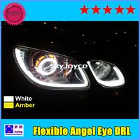 DHL freeshipping 10pcs/Lot Flexible Daytime Running Light Angel Eye DRL LED strip light bar panel lamp auto headlight