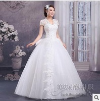 Free shipping Women shoulder bag bride wedding dress Qi shoulder lace V-neck bandage dress Qi