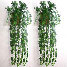 Artificial Ivy Leaf Garland Plants Vine Fake Foliage Flowers Home decor 7.5 feet #9039(China (Mainland))