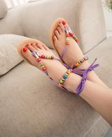 free shipping 2014 new arrival women sandals flat heel sweet summer single shoes soft bottom girls sandals slippers